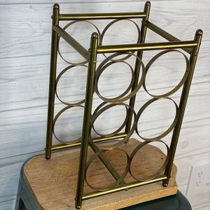 Vintage Brass wine bottle holder